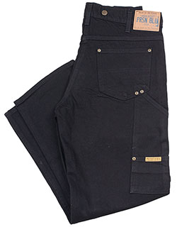 Double Knee Work Jeans, Black