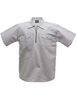 Short Sleeve Zip Hickory Shirt