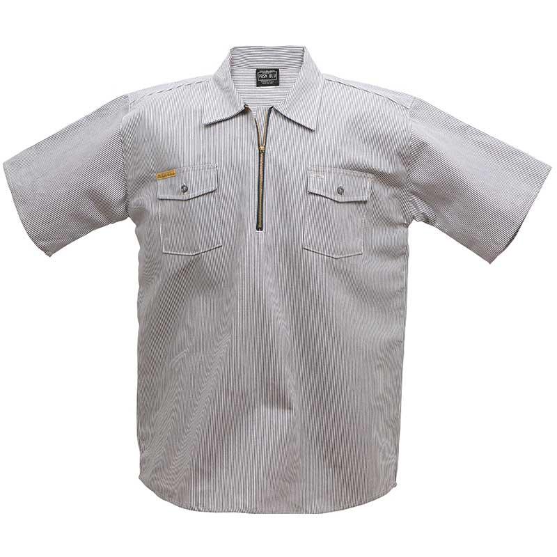 Short Sleeve Zip Hickory Shirt