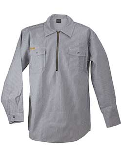 Long Sleeve Zip Hickory Shirt