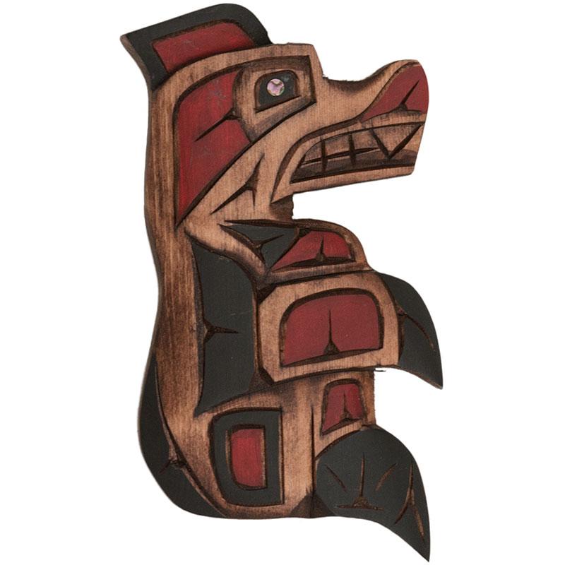 Bear Carving, Cedar