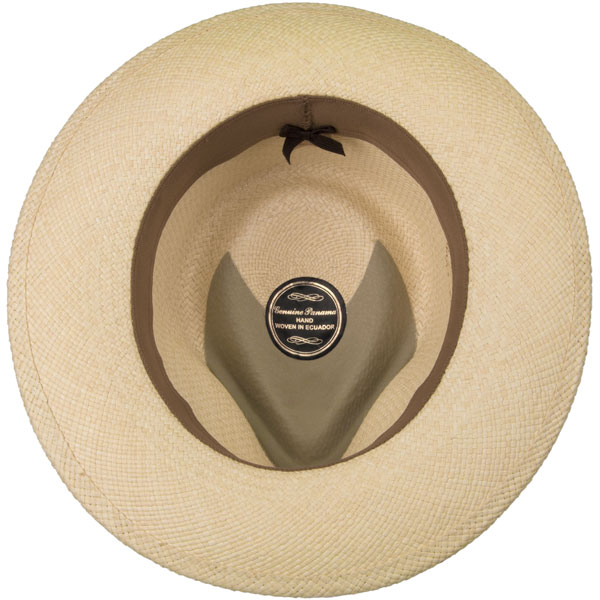 Panama Fedora -- Note the pinch is reinforced to help protect the hat at its weakest point.