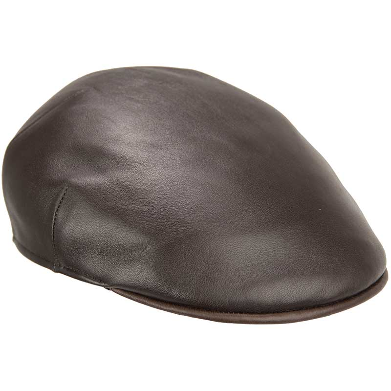 Leather Driving Cap, Brown
