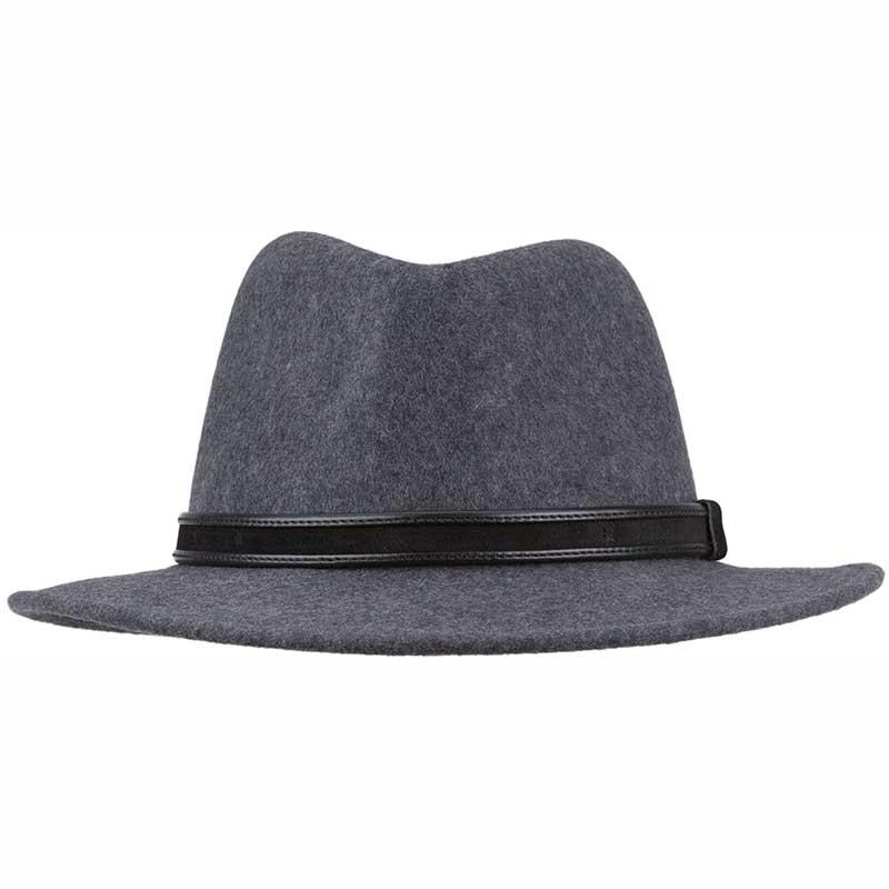 Wool Felt Hiker Hat, Crushable, Gray