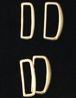 Bronze Dees, 1.5 inch, 2 sets