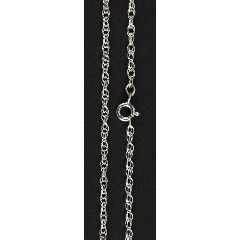 Sterling Silver Rope Chain, 24 inches