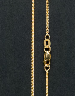 Gold Wheat Chain, 18 inch, Light