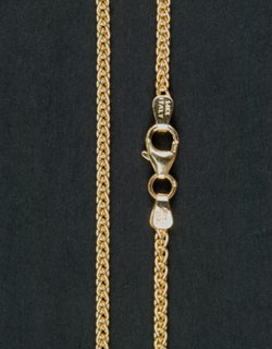 Gold Wheat Chain, 24 inch, Heavy