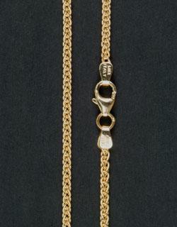 Gold Wheat Chain, 24 inch, Heavy