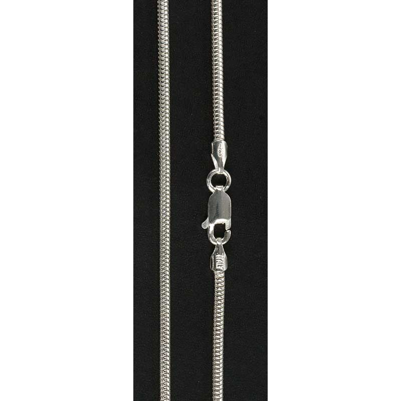 Sterling Silver Snake Chain, 24 inch