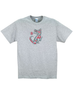 Wolf  Embroidered T-Shirt