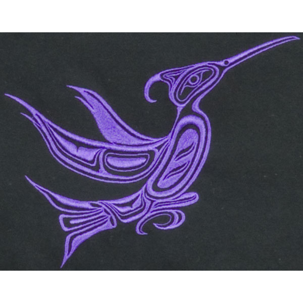 Hummingbird Embroidered T-Shirt :  The shirt is made of 100% heavy (9.4 oz) pre-shrunk cotton with high-density embroidery.