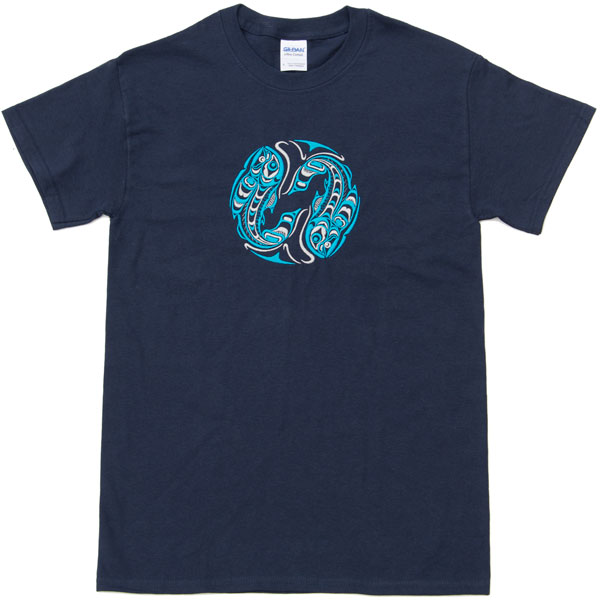 Two Salmon Embroidered T-Shirt