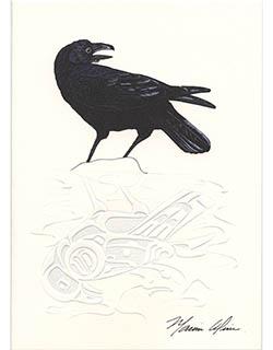 Raven Notecards