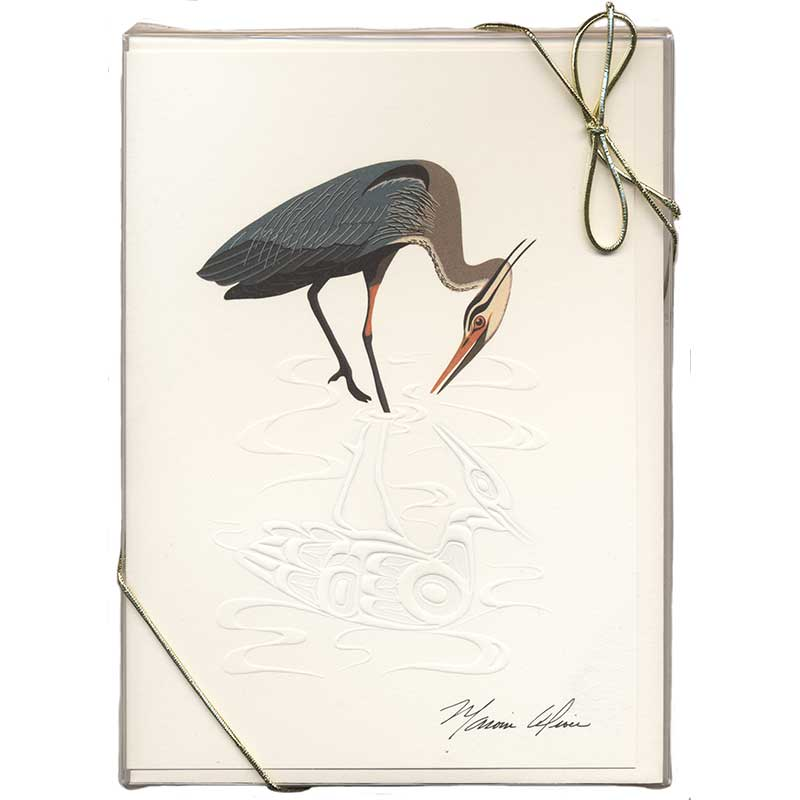 Heron Notecards, Pack of 6 Notecards and Envelopes
