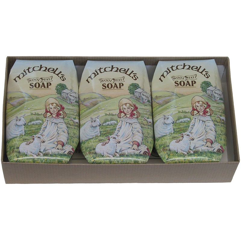 Mitchell's Wool Fat Soap, Gift Pack