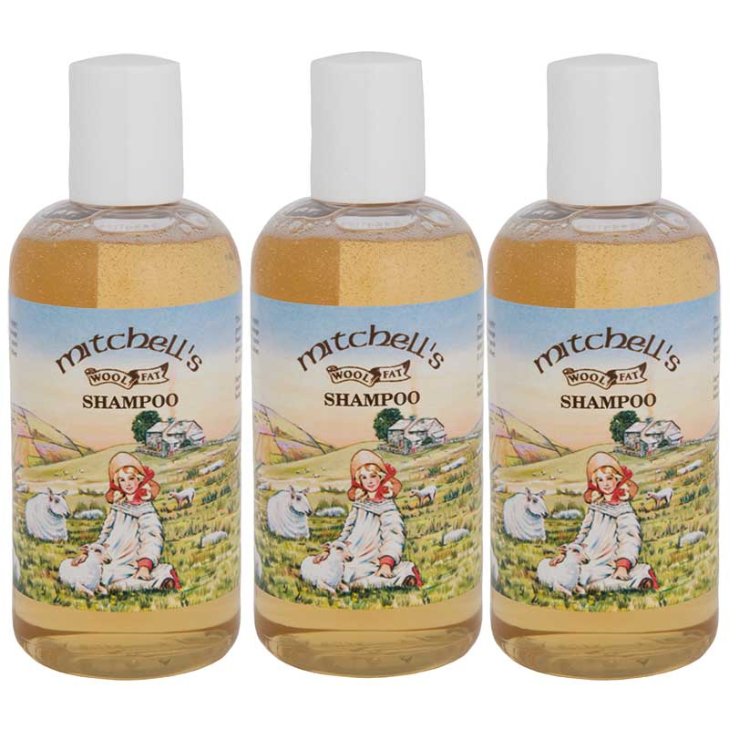 Mitchell's Wool Fat Shampoo, 3 Bottles