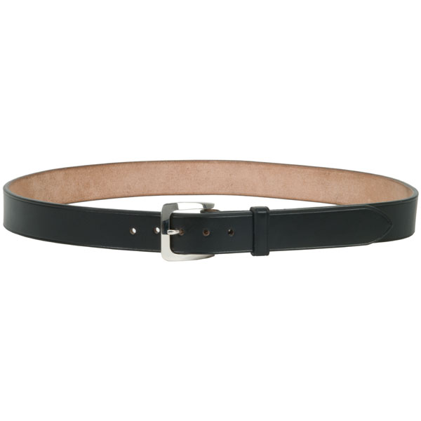 """Chacon Buckle, Medium, Sterling Silver -- shown on our #802 1-1/4"""" Bridle Leather Belt"""