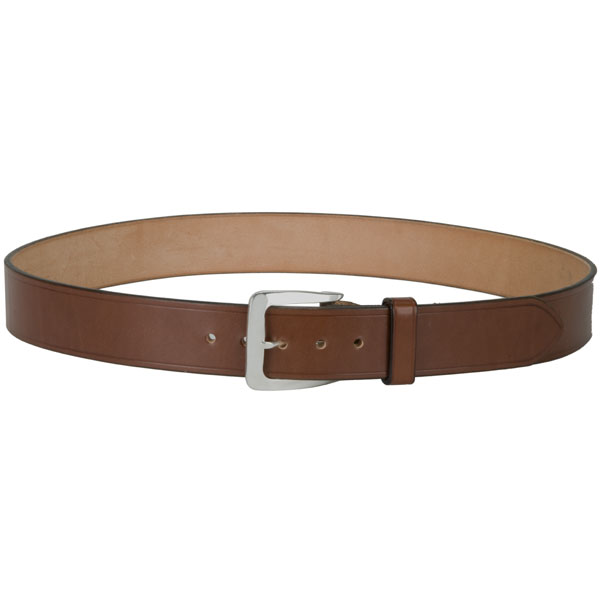 """Chacon Buckle, Large, Sterling Silver -- shown on our #803 1-1/2"""" Bridle Leather Belt"""