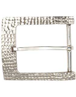 Hammered Silver Buckle