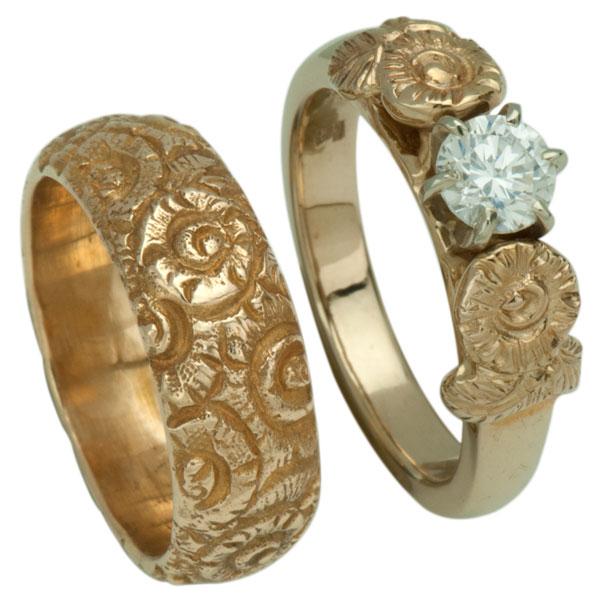 Kalgoorlie Ring, shown with our #3352g Kalgoorlie Engagement Ring