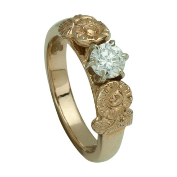 No. 3352 Ring w/o diamond,  -- shown here with 1/2 ct diamond