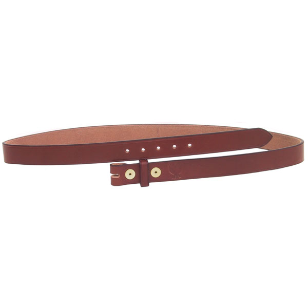 Brown Leather Belt, 1 inch,  No Buckle