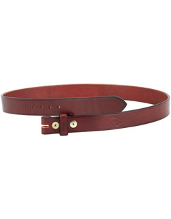 Leather Belt, 1.25 inch, No Buckle