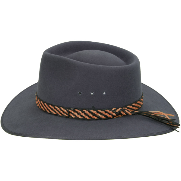 Two Tone Hat Band, Black Edge, shown on the #1613 Cattleman by Akubra
