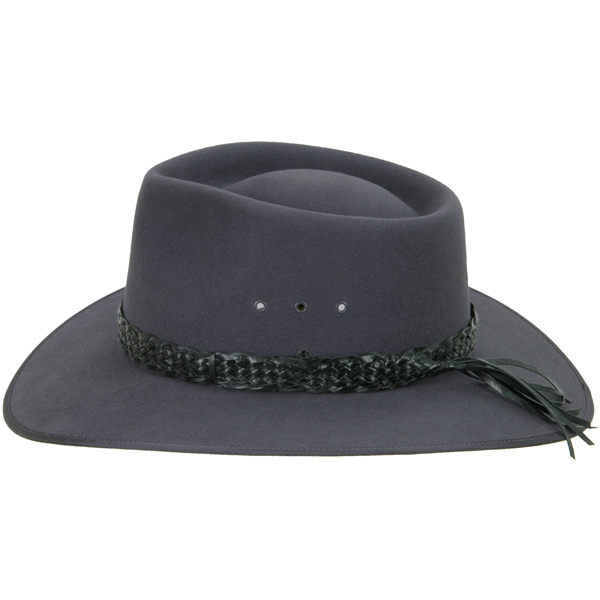 Black Fancy Edge Hat Band (shown on the #1613 Cattleman by Akubra)