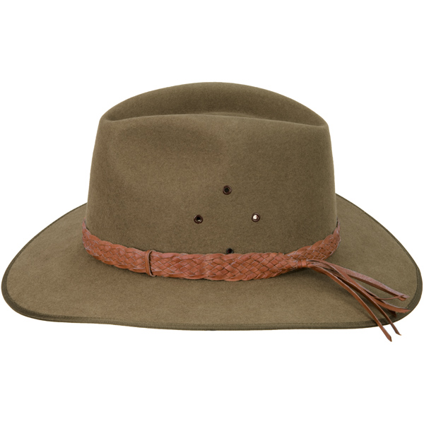 Natural Tan Fancy Edge Hat Band (shown on the Coober Pedy hat by Akubra)