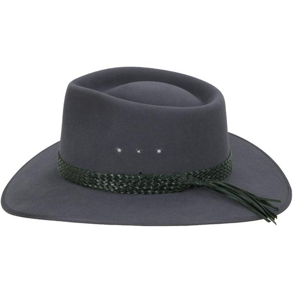 Black Ten Plait Hat Band (shown on the Cattleman hat by Akubra)