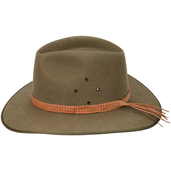 Natural Ten Plait Hat Band (shown on the Coober Pedy hat by Akubra)