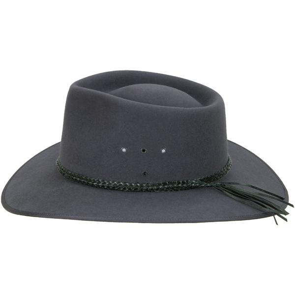 Black Ridge Braid Hat Band (shown on the Cattleman by Akubra)