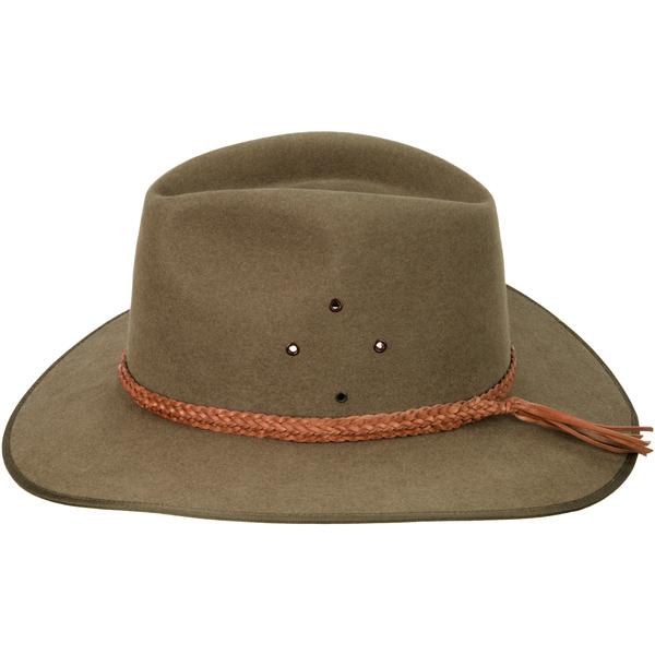 Natural Tan Ridge Braid Hat Band (shown on the Coober Pedy by Akubra)