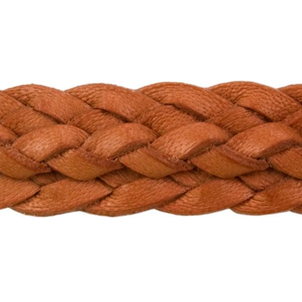 Natural Tan Ridge Braid Hat Band (close-up view)