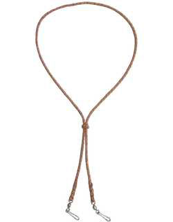 Braided Whistle Lanyard, Double Snap