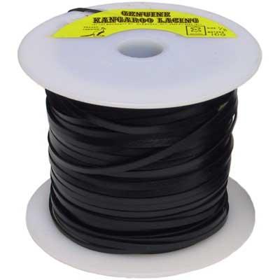 Black 3 mm Machine Cut Lace, 100 m roll