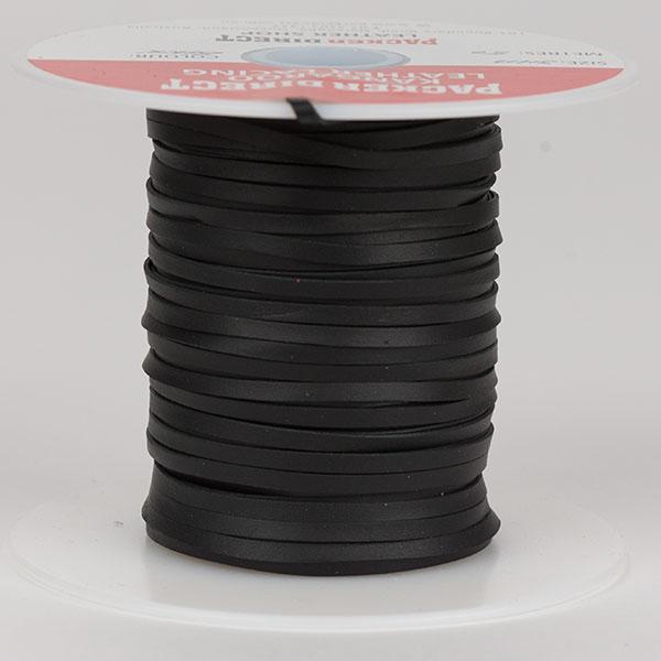 3 mm Machine Cut Lace, 50 m roll, Black