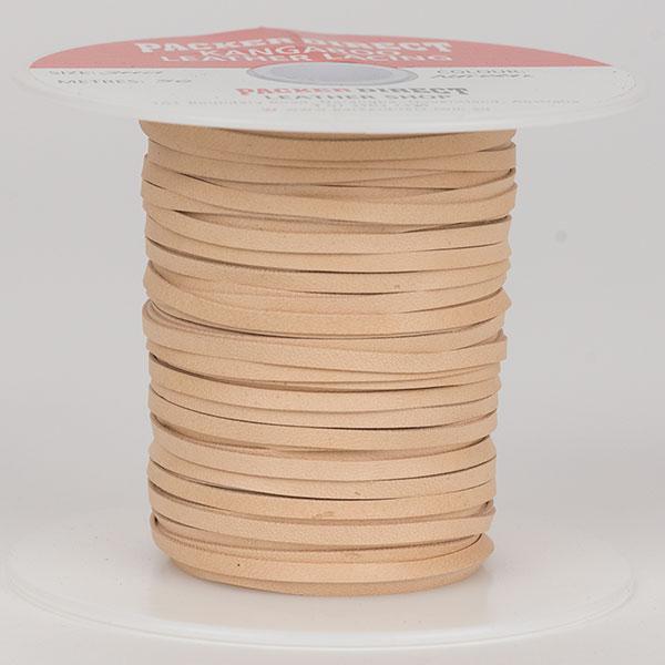 3 mm Machine Cut Lace, 50 m roll, Tan