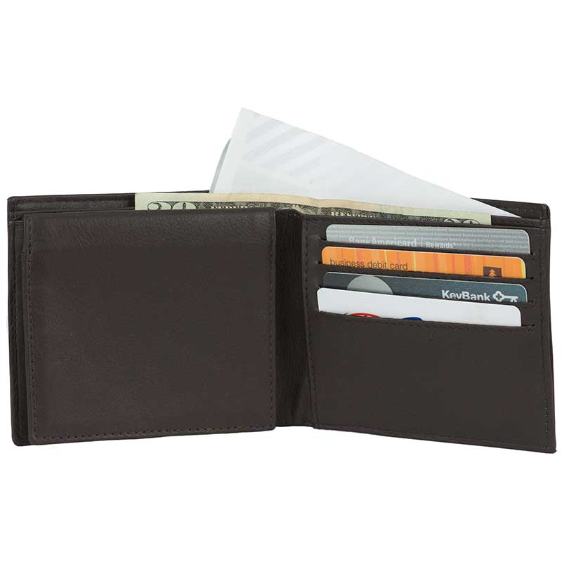 Eight Pocket Wallet by Ador with ID Flap, Brown