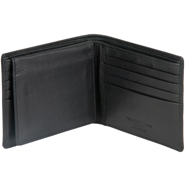 Eight Pocket Wallet with ID Flap by Adori, Black