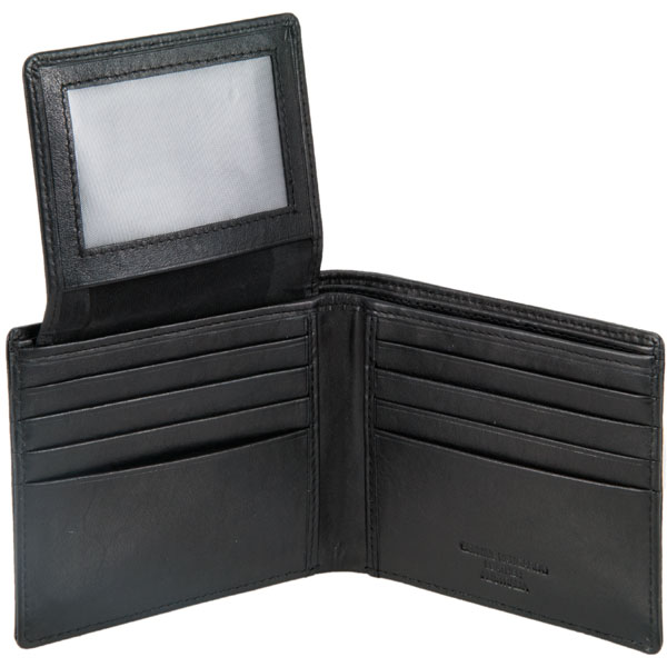Eight Pocket Wallet by Ador with ID Flap, Black