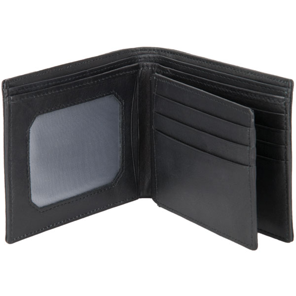 Ten Pocket Wallet by Adori, Black :  This wallet has an identity window on one side, four card slots on the other side  and two center opening pockets.