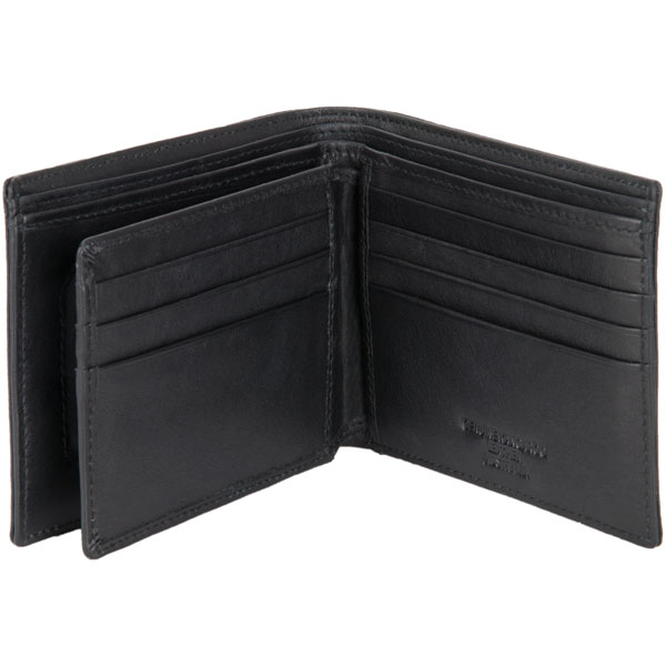 Ten Pocket Wallet by Adori, Black : An interior flap has an additional three card slots on each side.