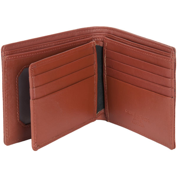 Ten Pocket Wallet by Adori, Tan : An interior flap has an additional three card slots on each side.