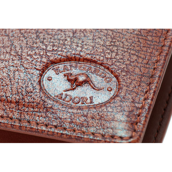 Ten Pocket Wallet by Adori, Tan : The wallet is made from kangaroo leather.