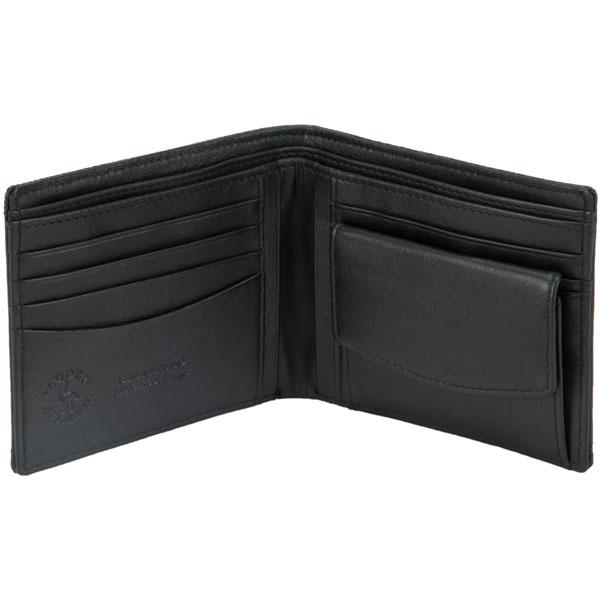 Six Pocket Wallet, Emu Leather, Black