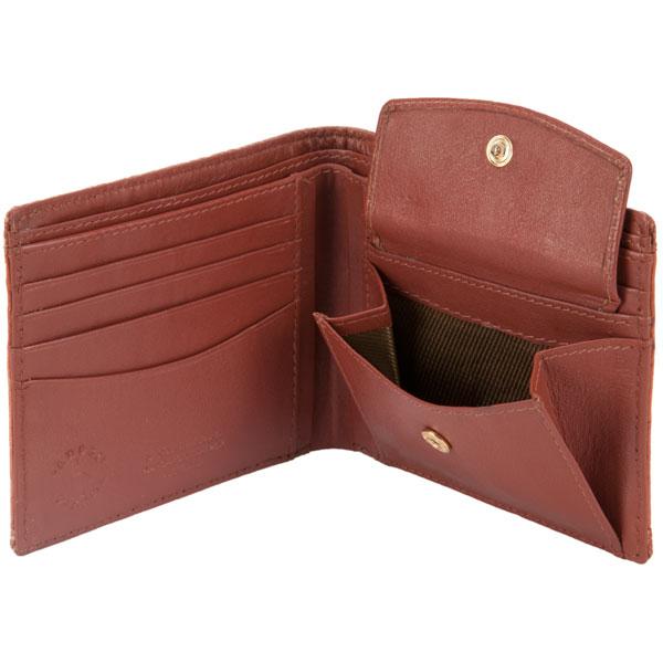 Six Pocket Wallet, Emu Leather, Tan