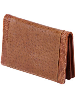 Business Card Holder, Emu Leather